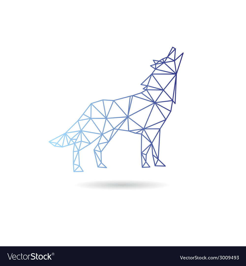Wolf abstract isolated vector | Price: 1 Credit (USD $1)