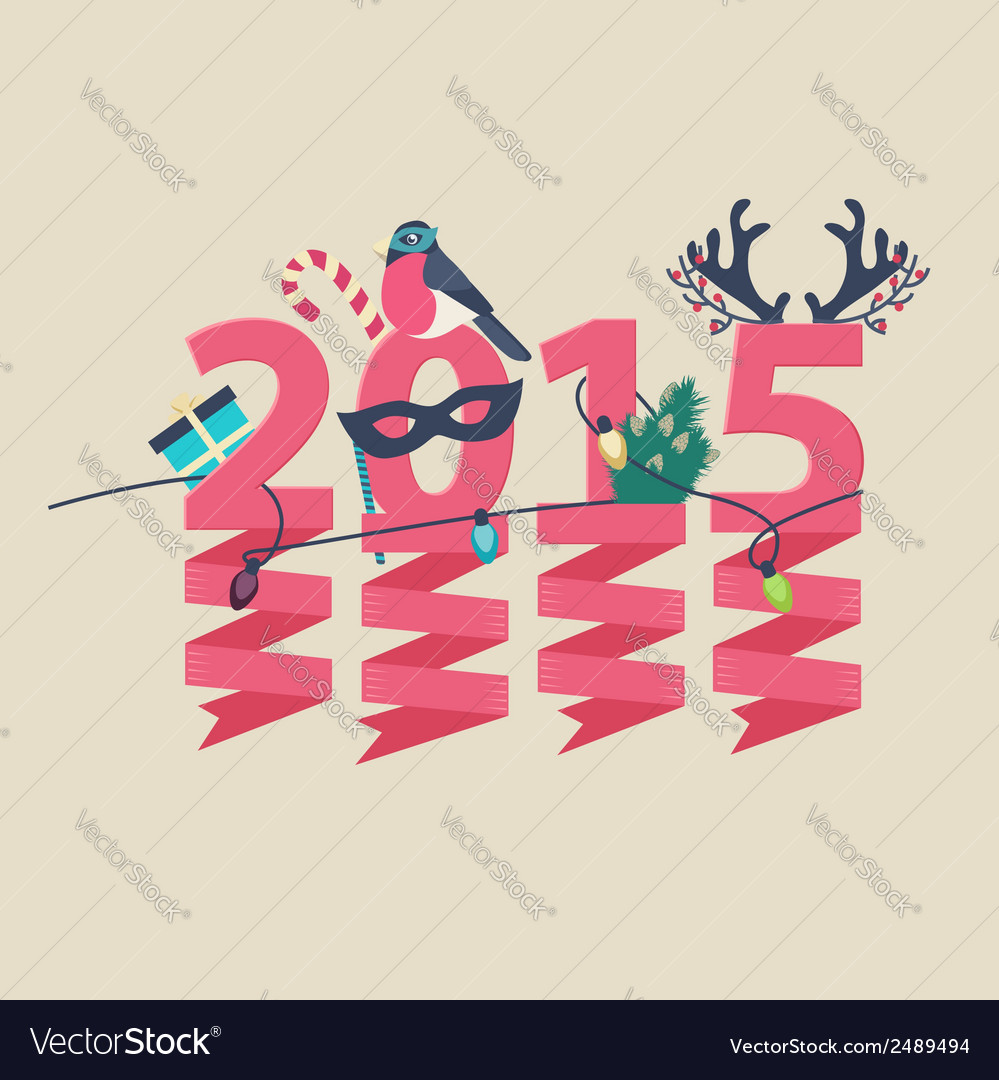2015 new year greeting card design vector   Price: 1 Credit (USD $1)