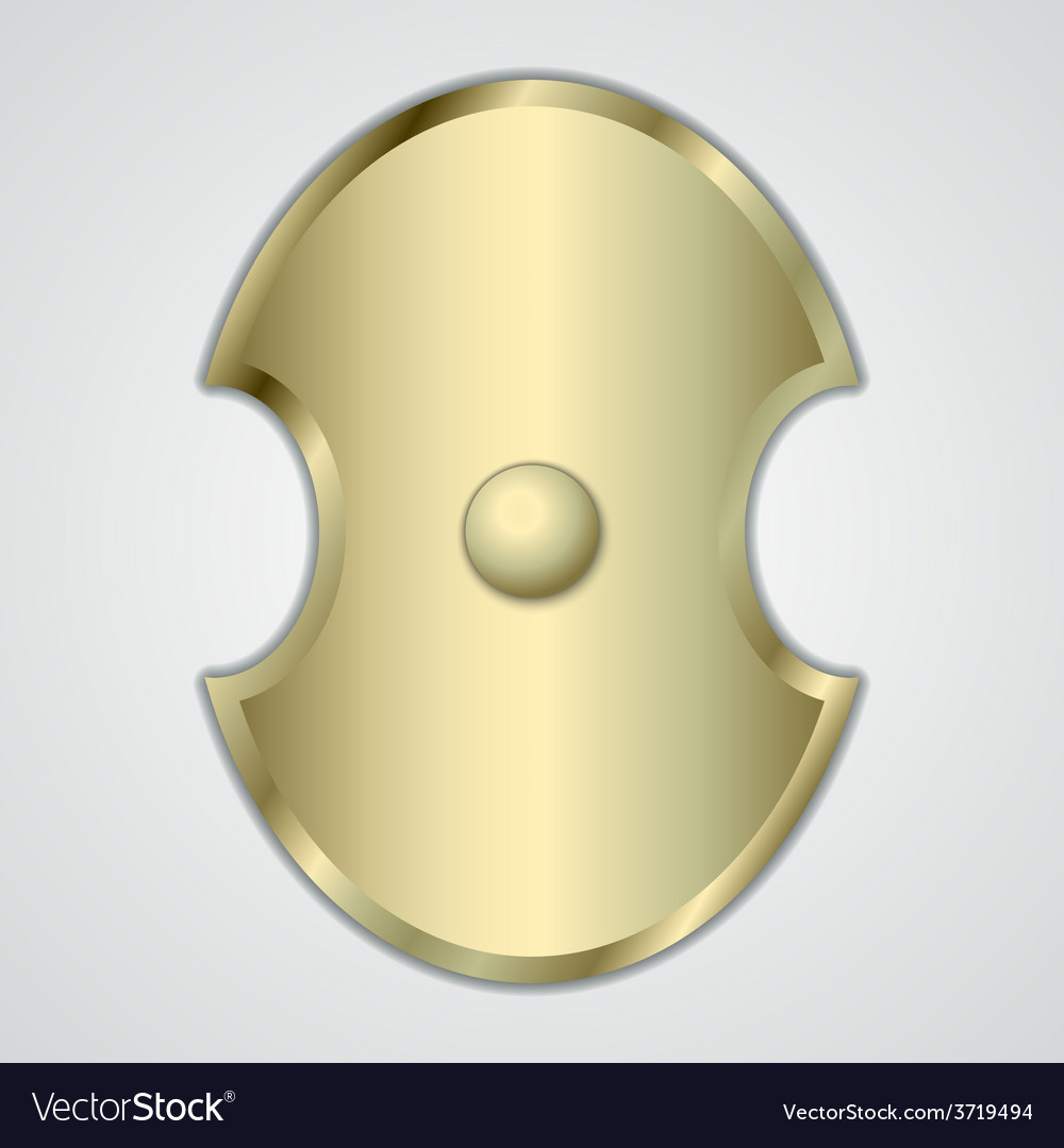 Abstract of gold greek shield vector | Price: 1 Credit (USD $1)