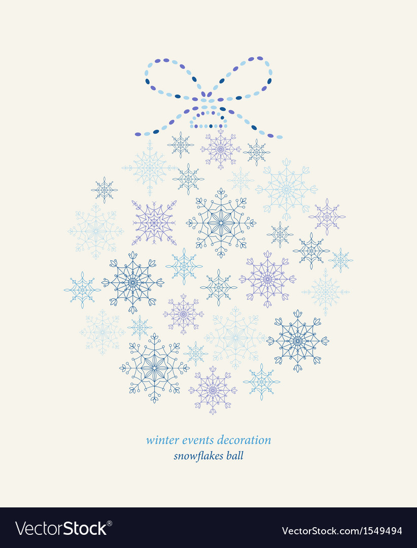 Decoration snowflakes celebration ball vector | Price: 1 Credit (USD $1)