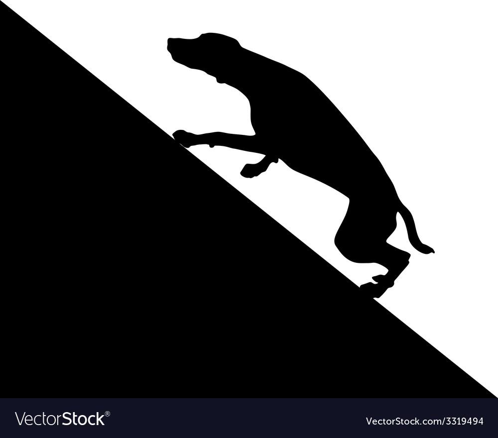 Dog runs uphill vector | Price: 1 Credit (USD $1)
