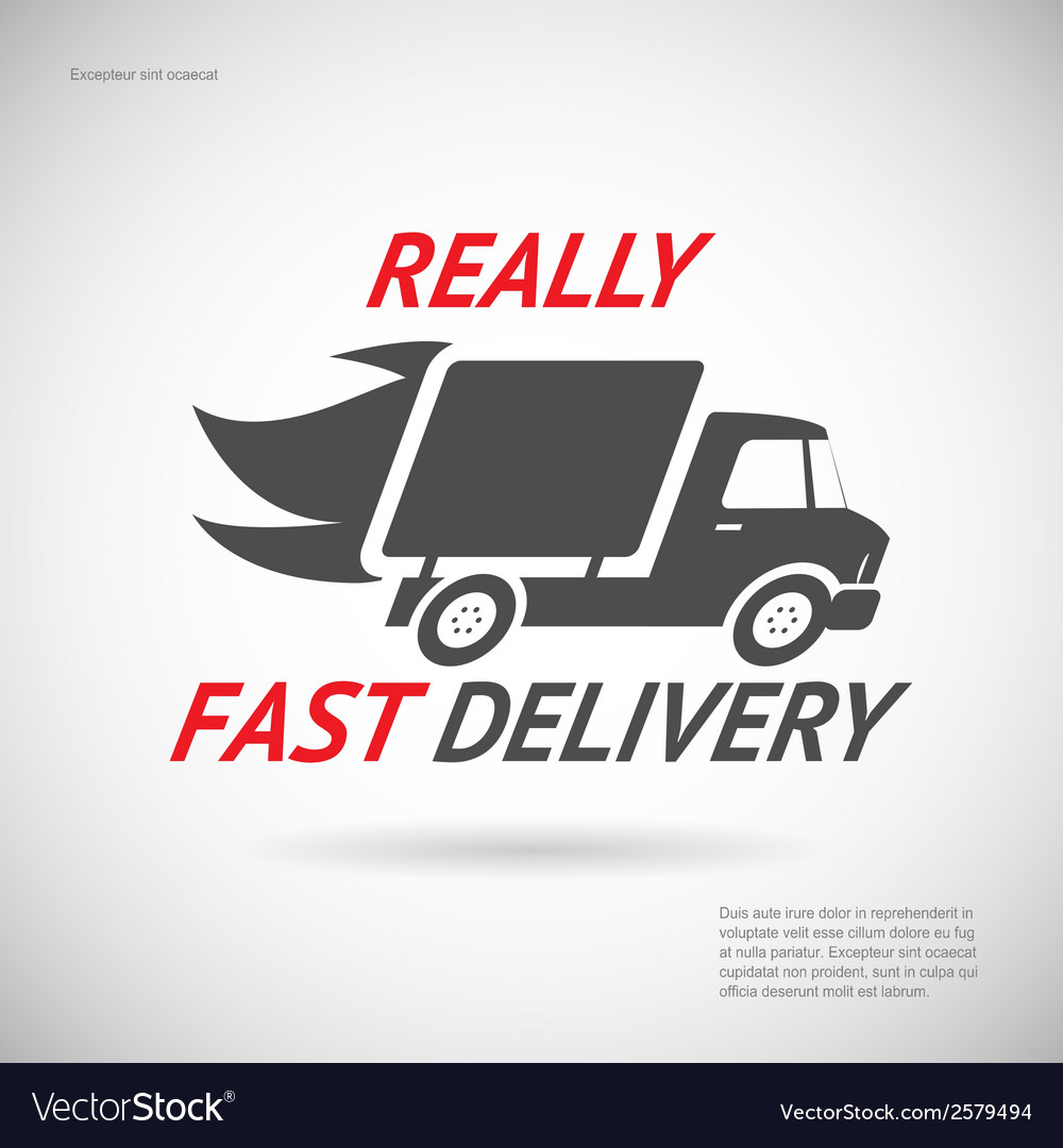 Fast delivery symbol shipping truck silhouette vector | Price: 1 Credit (USD $1)