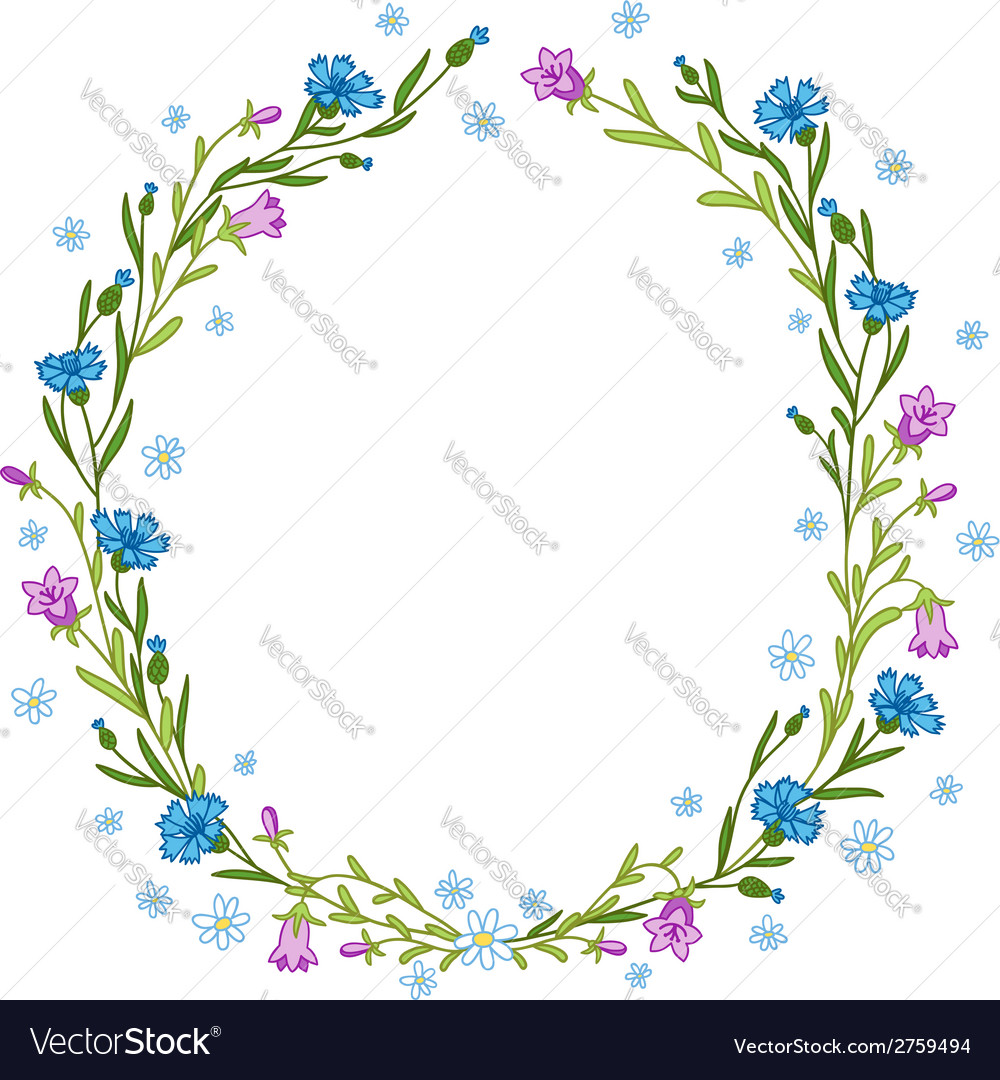 Floral wreath composition vector | Price: 1 Credit (USD $1)