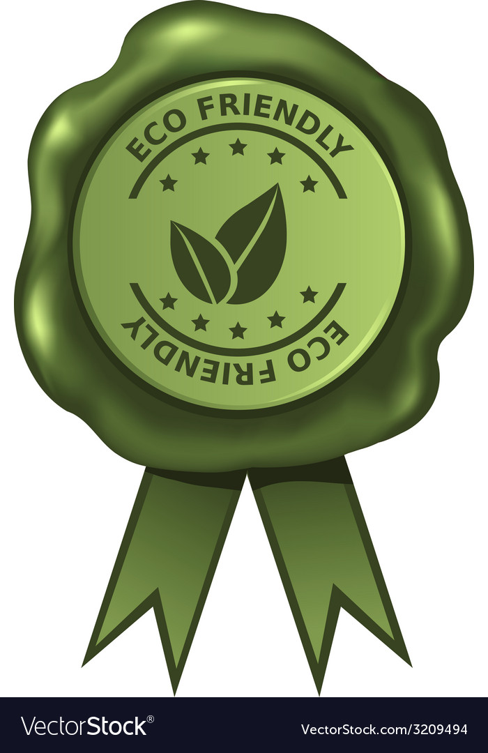 Green eco friendly wax seal vector   Price: 1 Credit (USD $1)