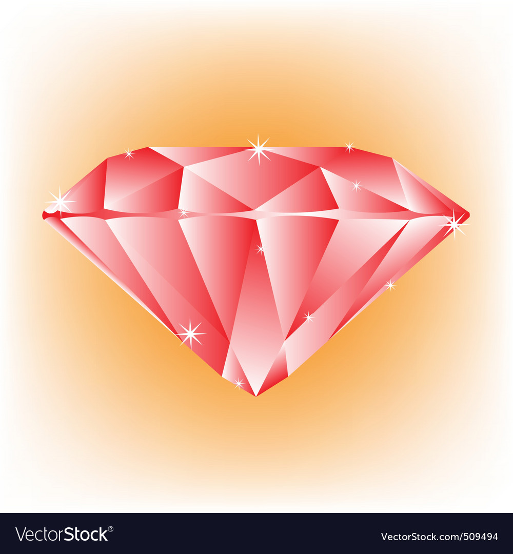 Red jewel vector | Price: 1 Credit (USD $1)