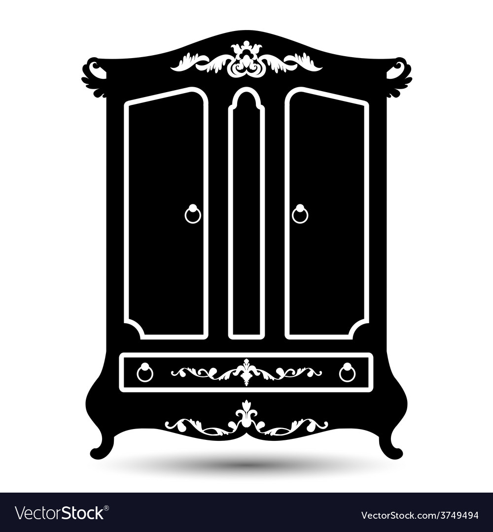 Silhouette of cupboard vector | Price: 1 Credit (USD $1)