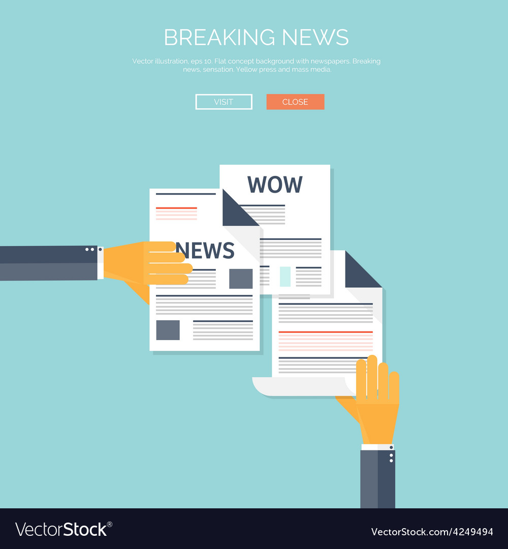 With flat newspapers news and vector | Price: 1 Credit (USD $1)