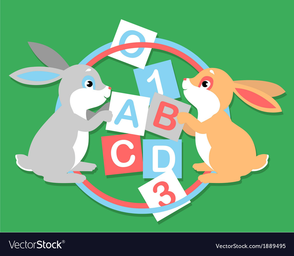 2 hares learning vector | Price: 1 Credit (USD $1)
