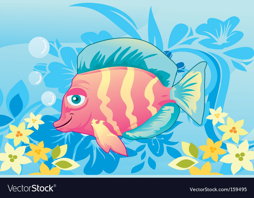 Artistic fish vector | Price: 1 Credit (USD $1)