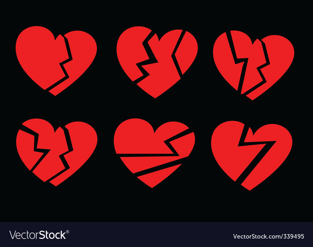 Broken hearts vector | Price: 1 Credit (USD $1)