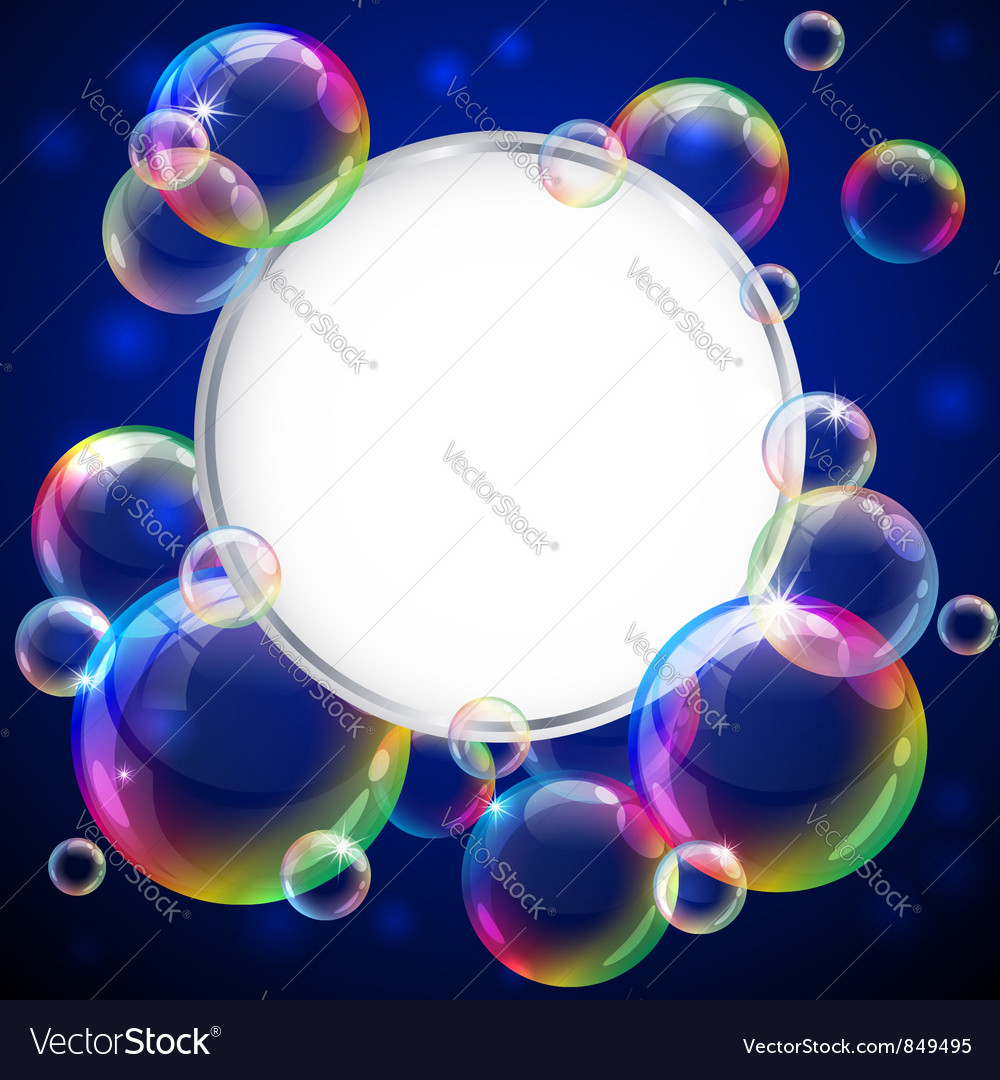 Bubbles frame vector | Price: 1 Credit (USD $1)