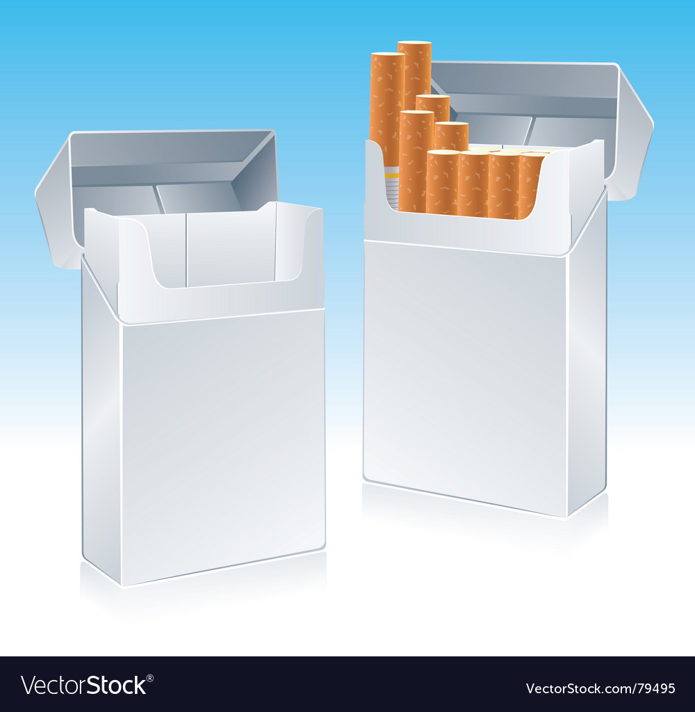 Cigarette pack vector | Price: 1 Credit (USD $1)