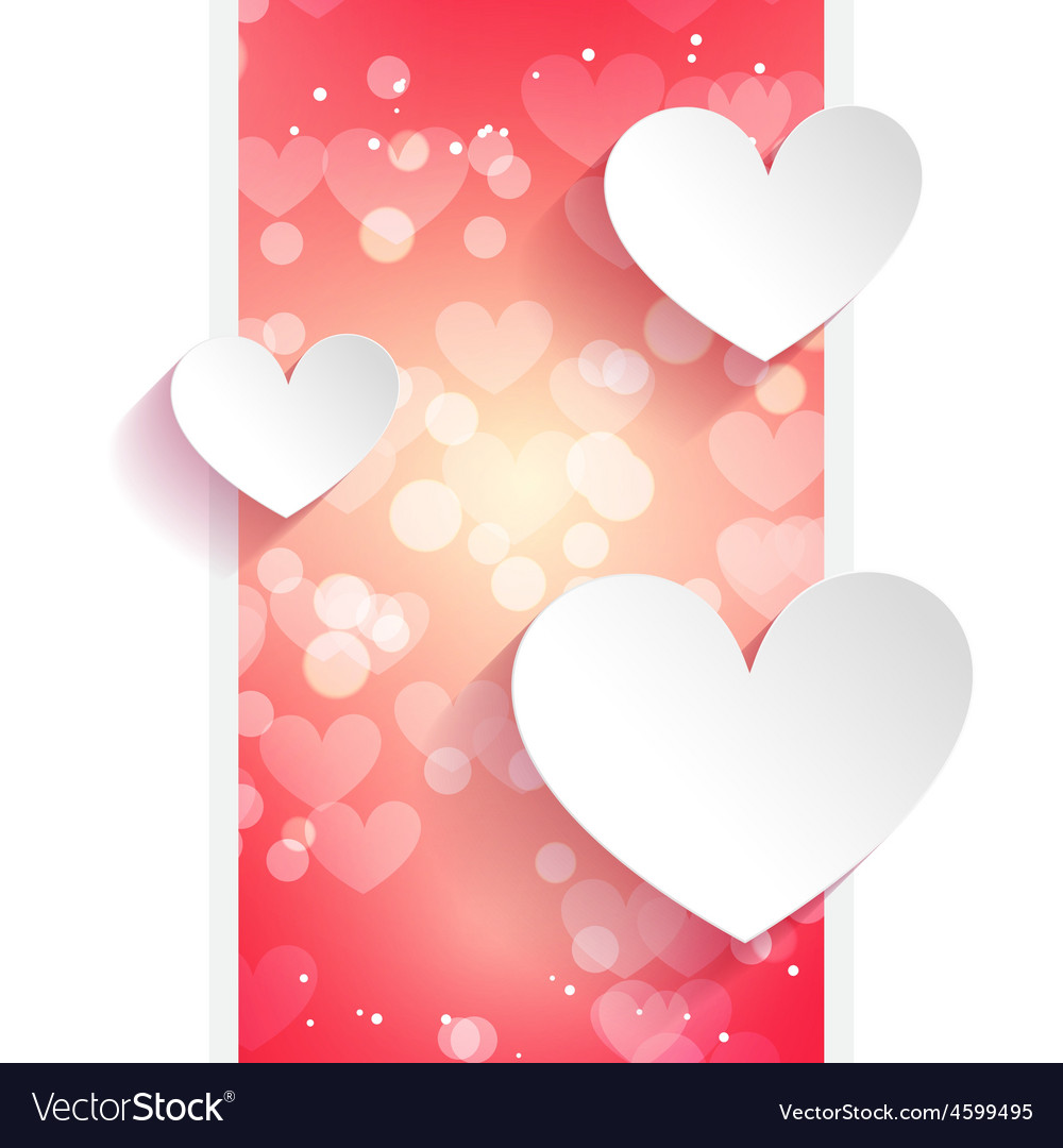 Hearts greeting card vector   Price: 1 Credit (USD $1)