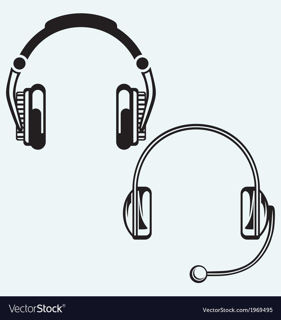Icon headphones vector | Price: 1 Credit (USD $1)