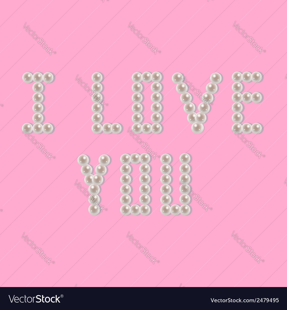 Pearl i love you vector | Price: 1 Credit (USD $1)
