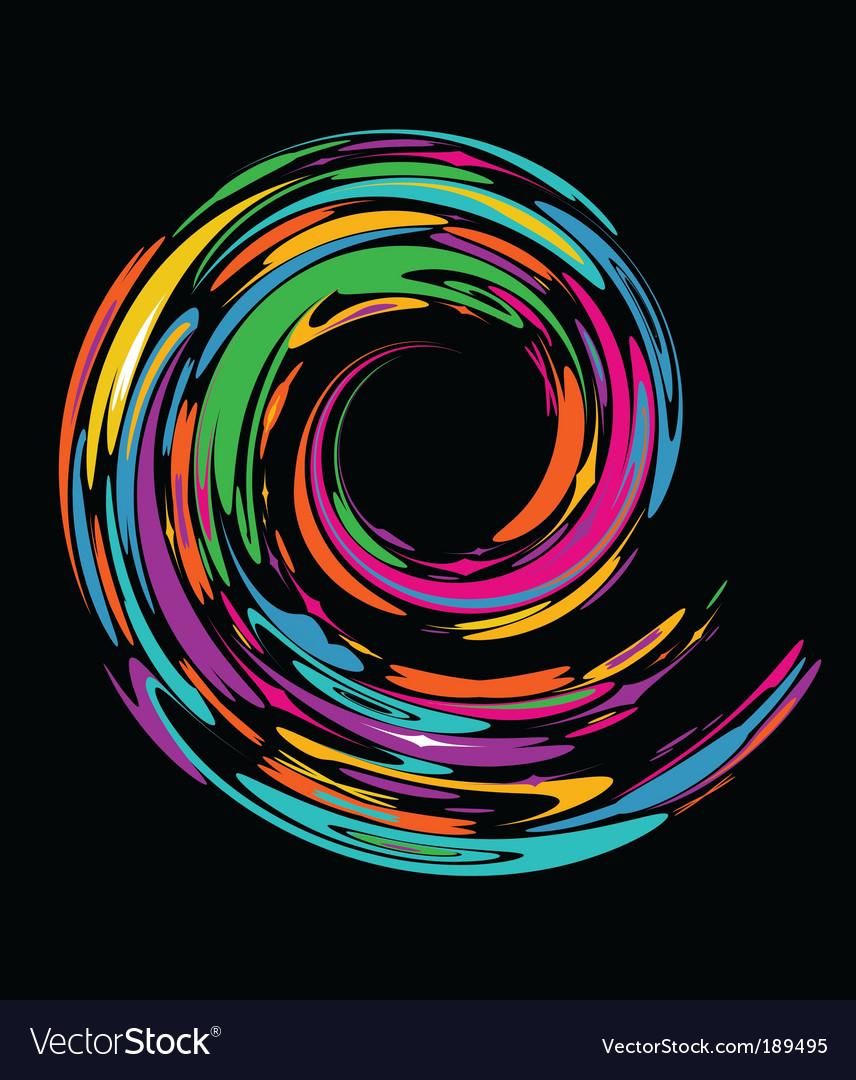 Rainbow swirl banner vector | Price: 1 Credit (USD $1)