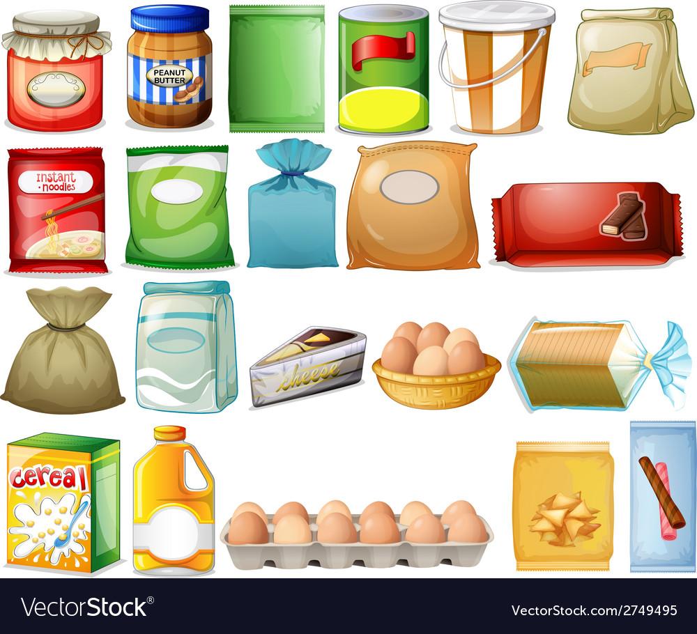 Set of foods vector | Price: 1 Credit (USD $1)