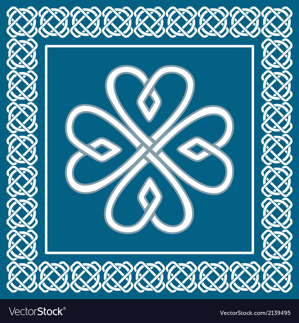 Shamrock - celtic knot traditional irish symbol vector | Price: 1 Credit (USD $1)