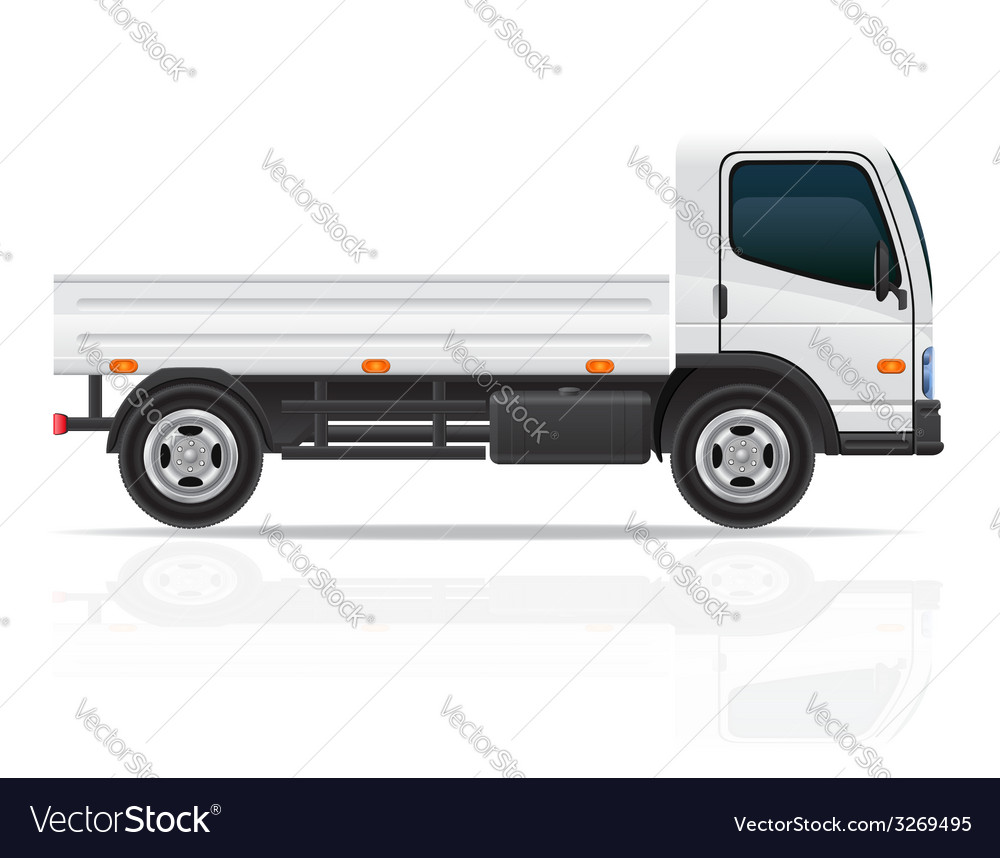 Small truck 01 vector | Price: 3 Credit (USD $3)