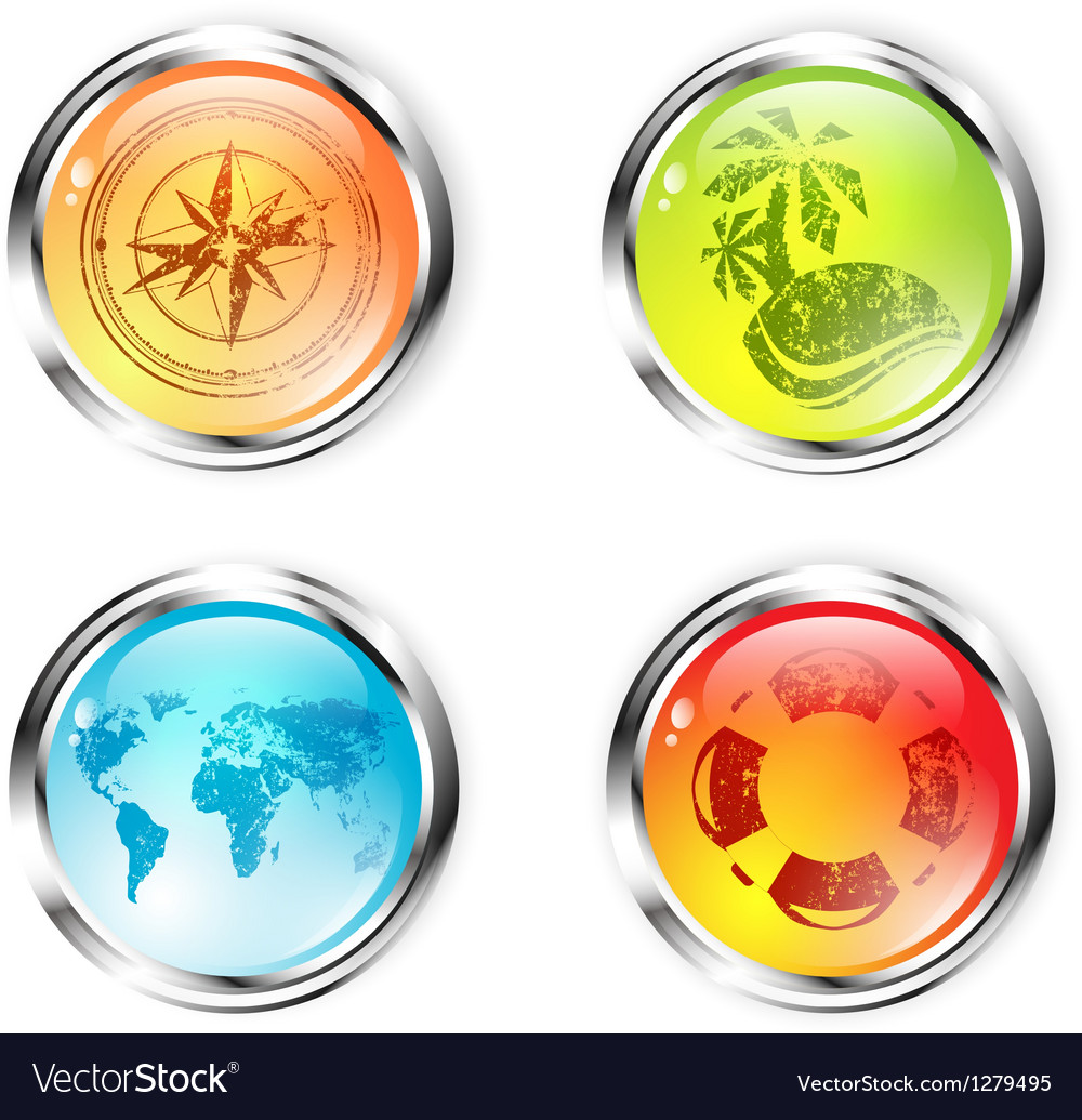Travel button collection vector | Price: 1 Credit (USD $1)