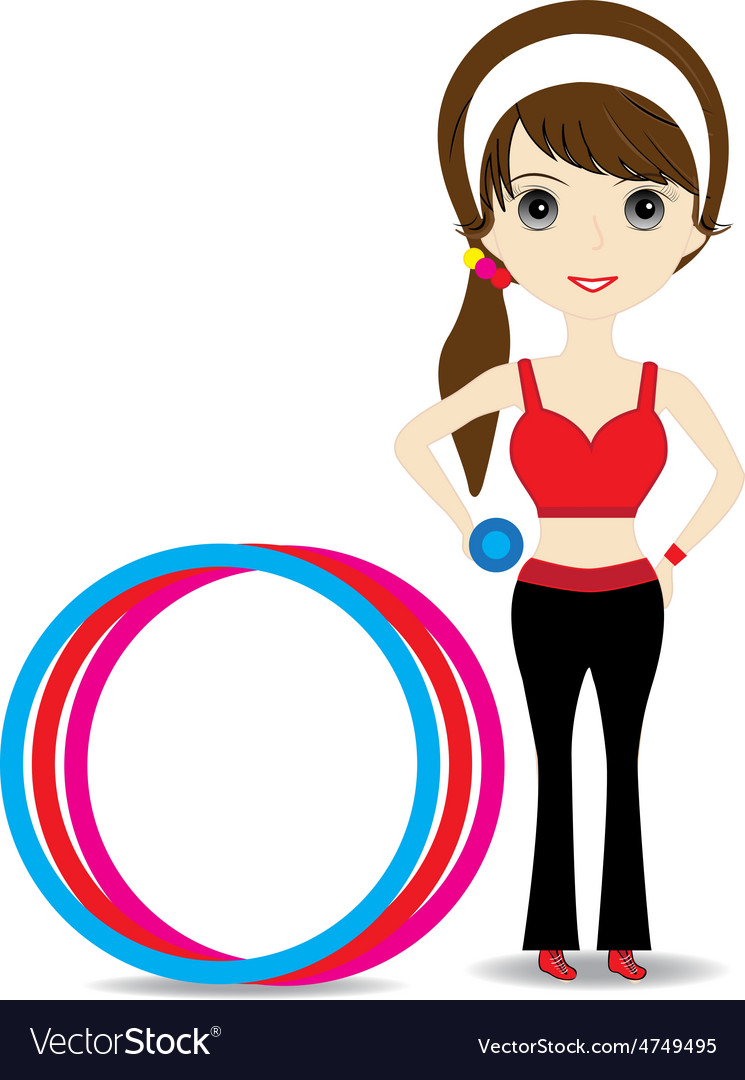 Woman exercising vector   Price: 1 Credit (USD $1)