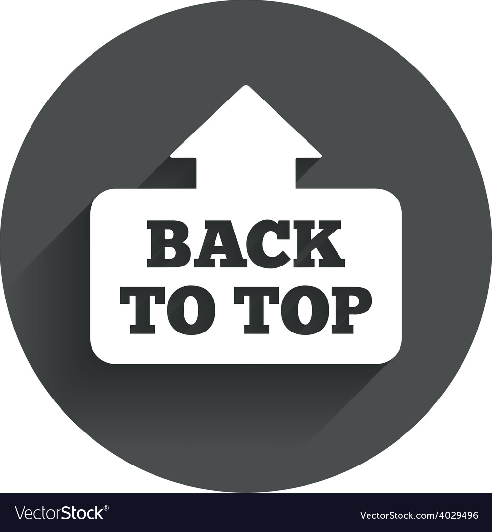 Back to top arrow sign icon scroll up symbol vector   Price: 1 Credit (USD $1)