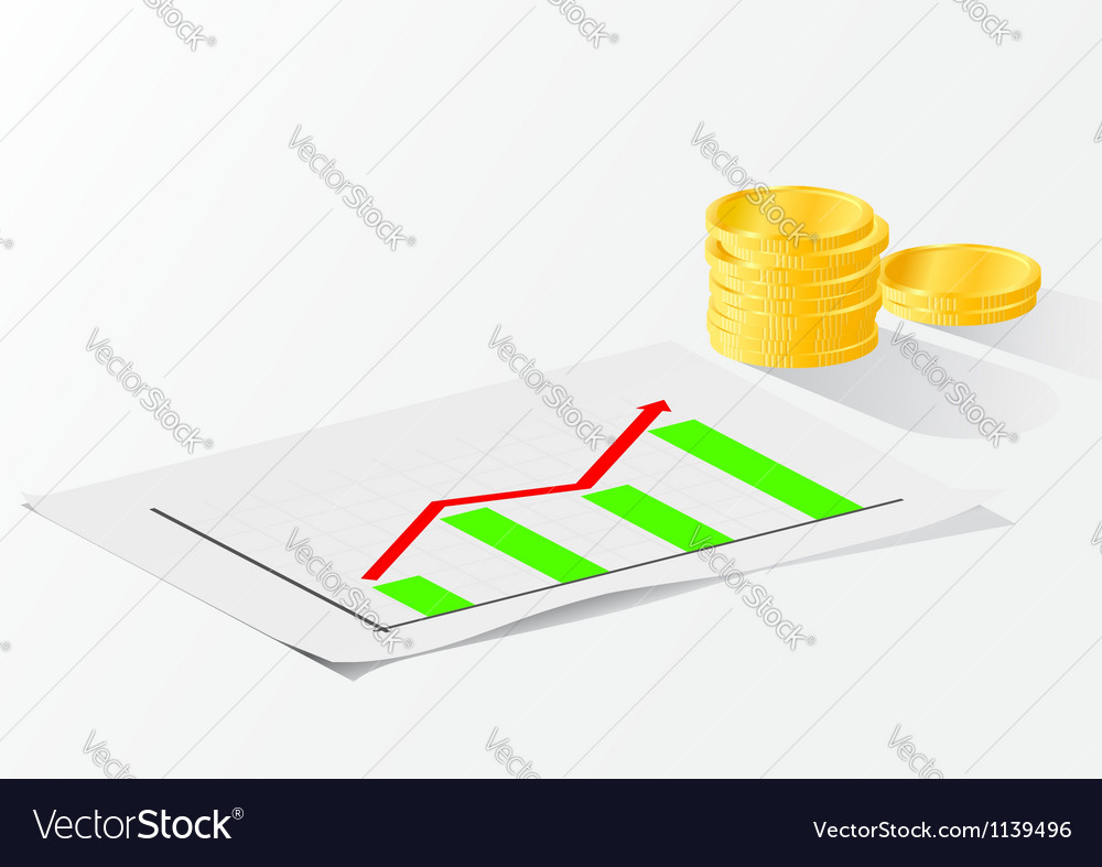 Business growth chart vector | Price: 1 Credit (USD $1)