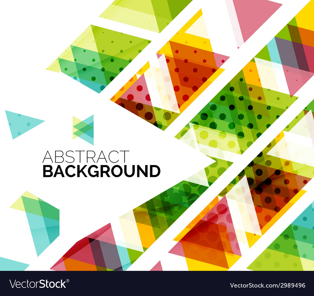 Colorful triangles vector   Price: 1 Credit (USD $1)