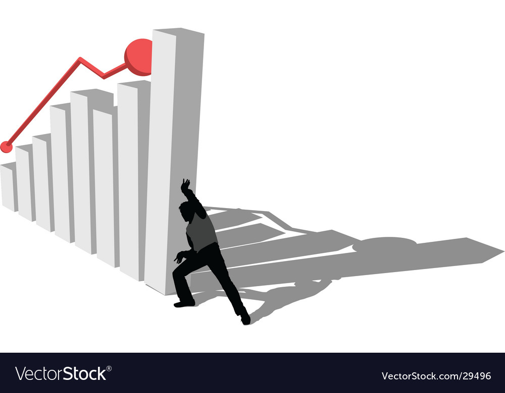 Finance diagram is falling down vector | Price: 1 Credit (USD $1)