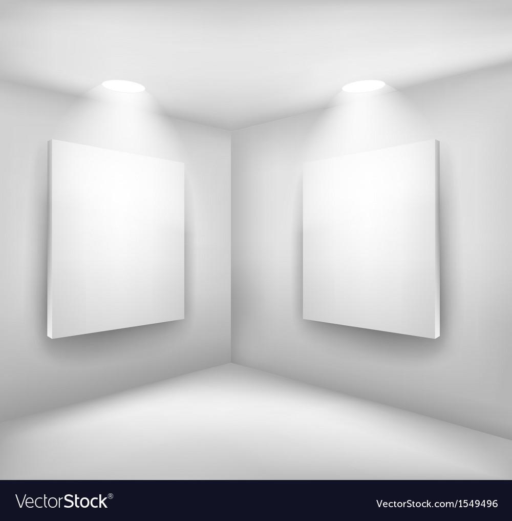 Frames in empty room vector | Price: 1 Credit (USD $1)