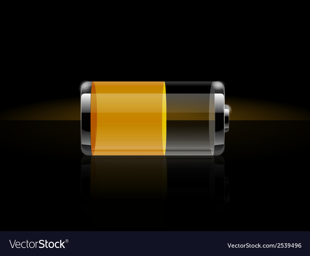 Glossy transparent battery icons vector | Price: 1 Credit (USD $1)