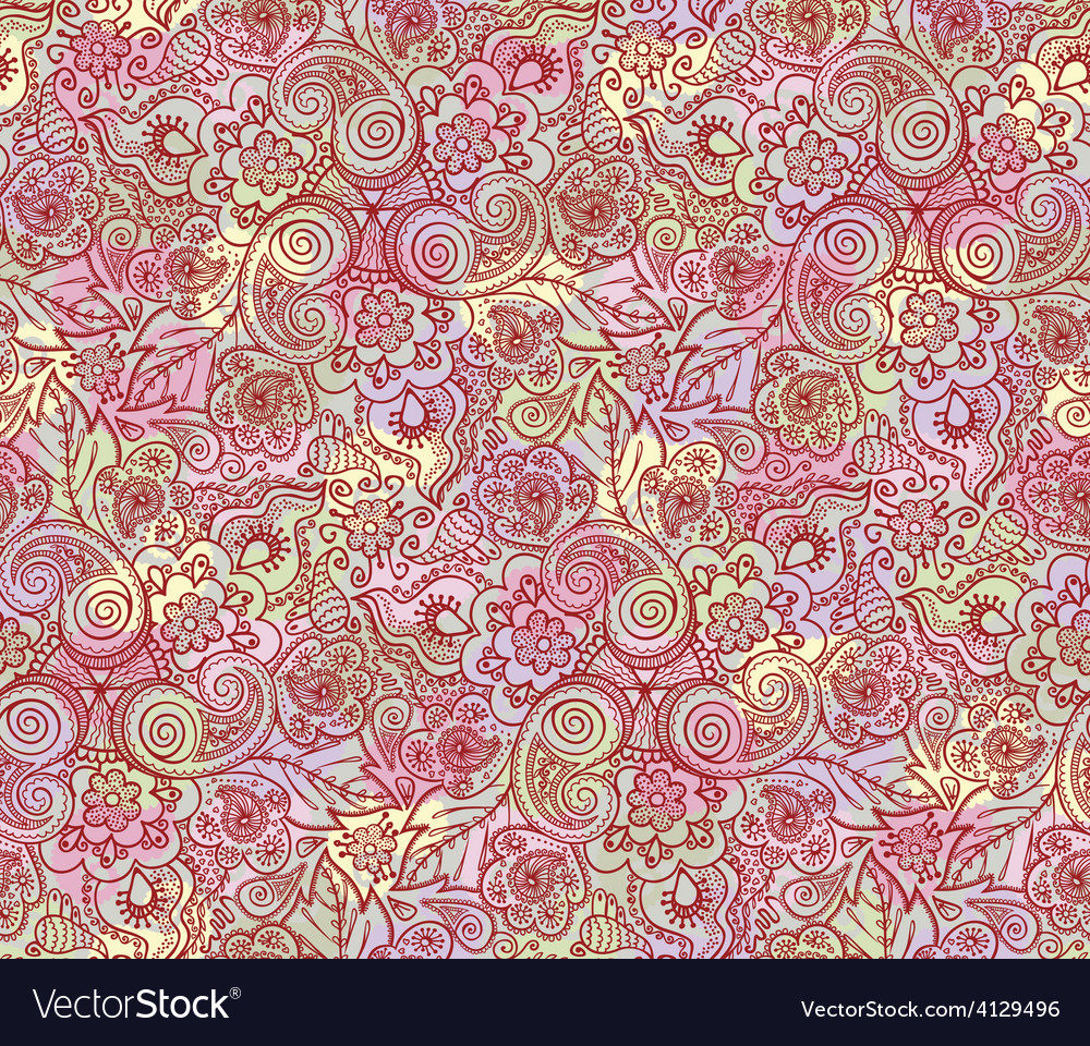 Seamless lace pattern vector | Price: 1 Credit (USD $1)