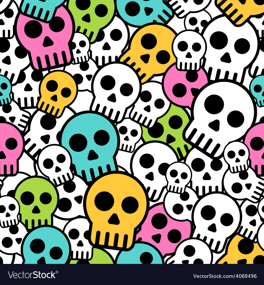 Seamless skull background vector | Price: 1 Credit (USD $1)