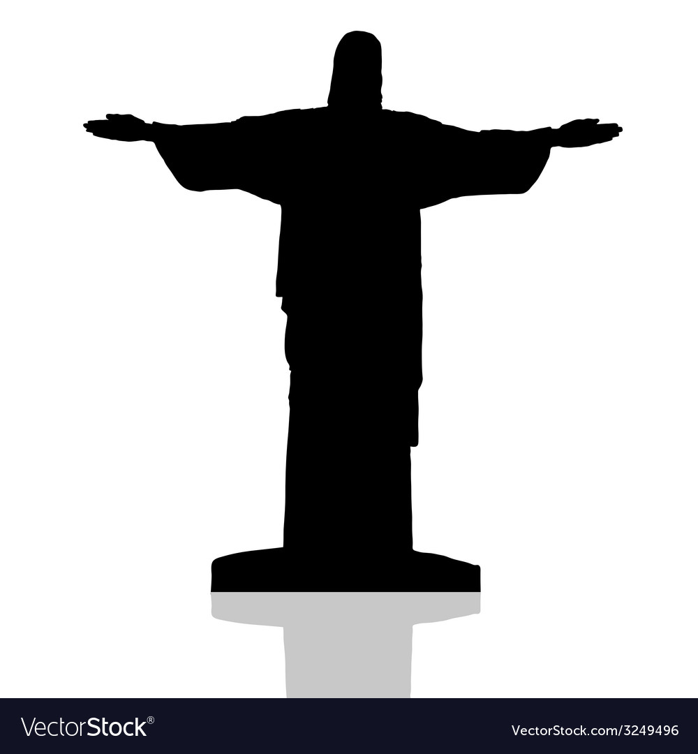 Statue of christ the redeemer in rio de janeiro vector | Price: 1 Credit (USD $1)