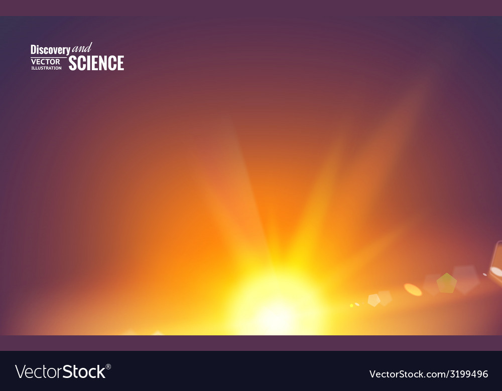 Sun with lens flare vector | Price: 1 Credit (USD $1)