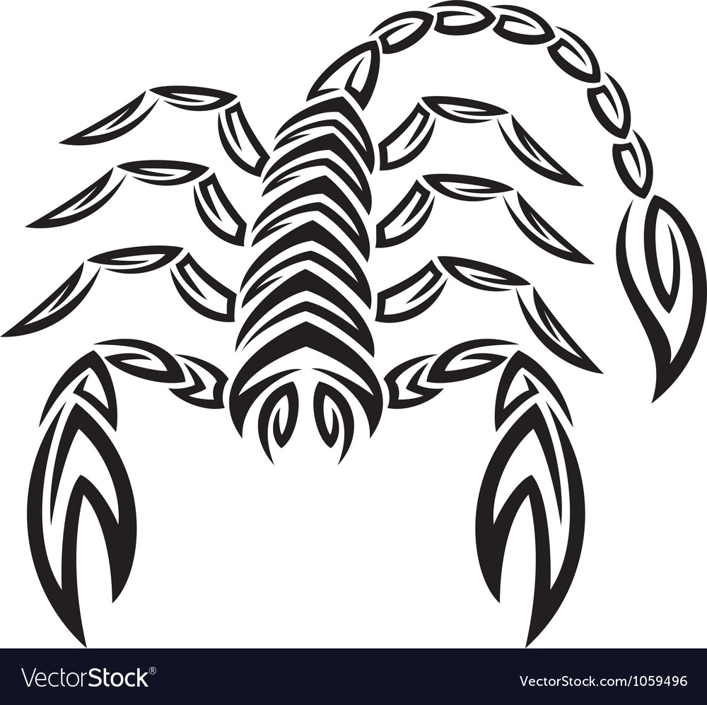 Tattoo zodiac scorpion - astrology sign vector | Price: 1 Credit (USD $1)
