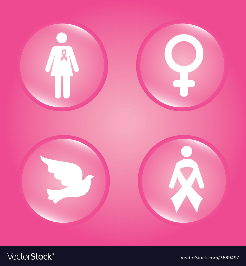Cancer design over pink background vector | Price: 1 Credit (USD $1)