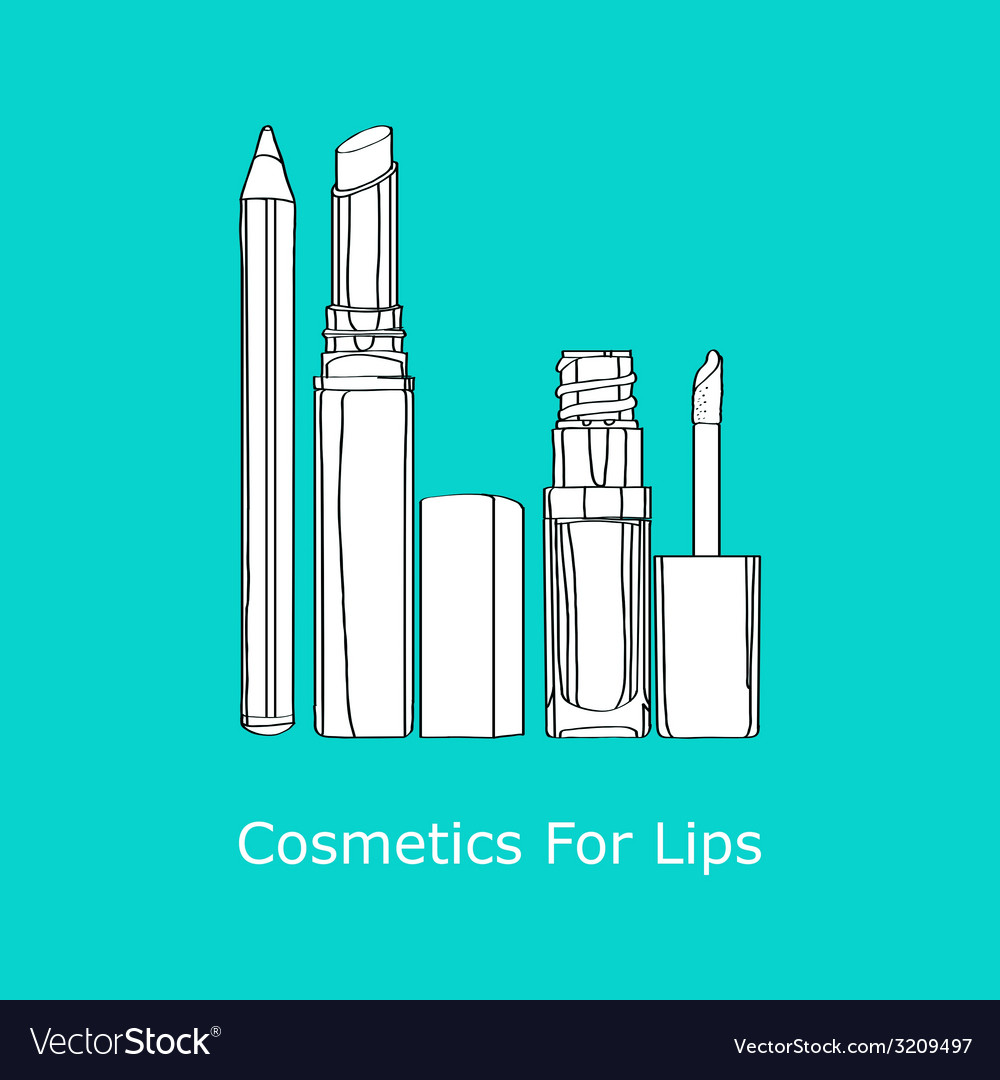 Cosmetics for lips vector | Price: 1 Credit (USD $1)