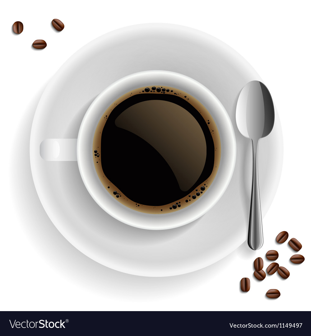 Cup of black coffee vector | Price: 1 Credit (USD $1)
