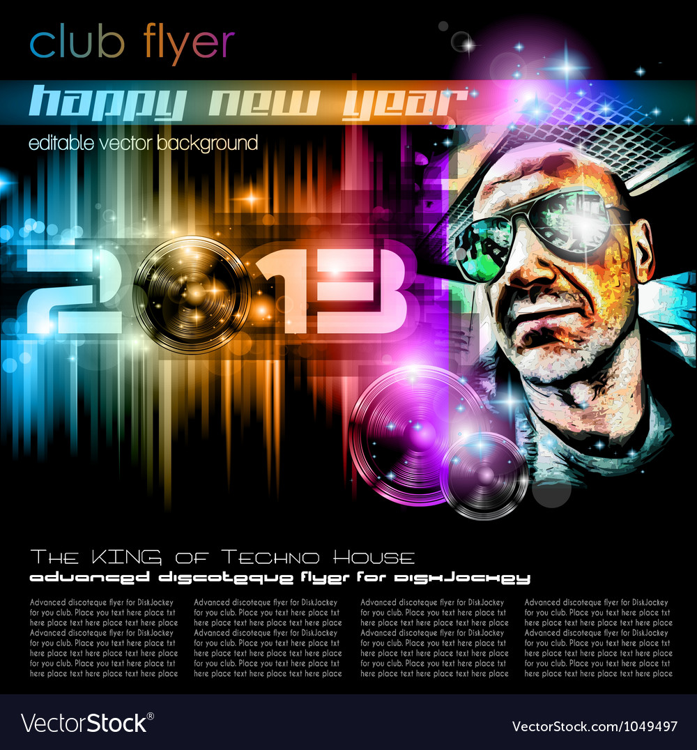 Disco party poster vector | Price: 3 Credit (USD $3)