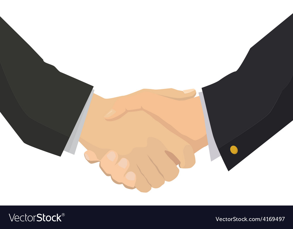 Handshake flat isolated for business vector | Price: 1 Credit (USD $1)