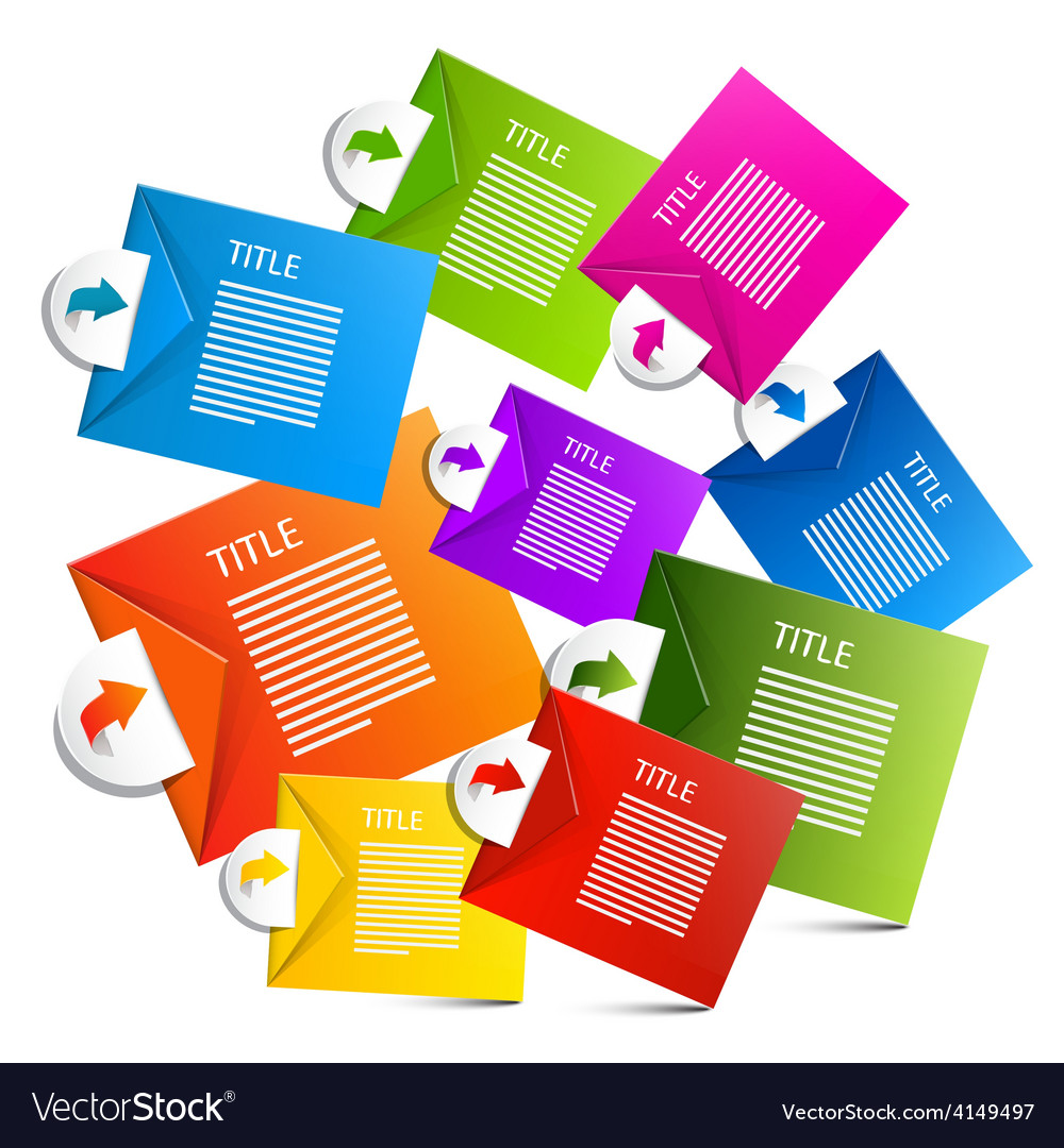 Infographics colorful paper labels vector | Price: 1 Credit (USD $1)