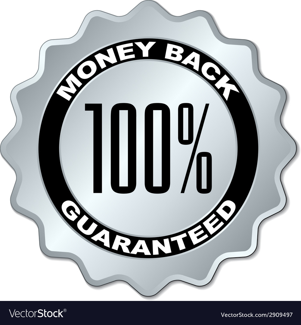 Money back guaranteed label vector | Price: 1 Credit (USD $1)