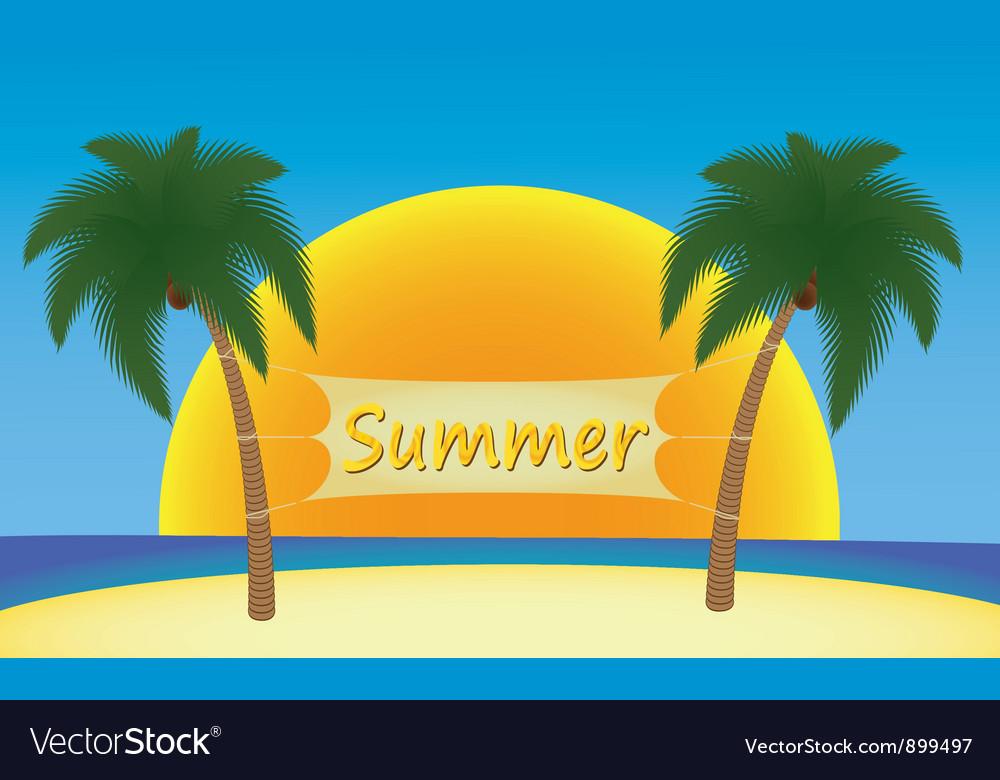 Summer in tropics vector | Price: 1 Credit (USD $1)
