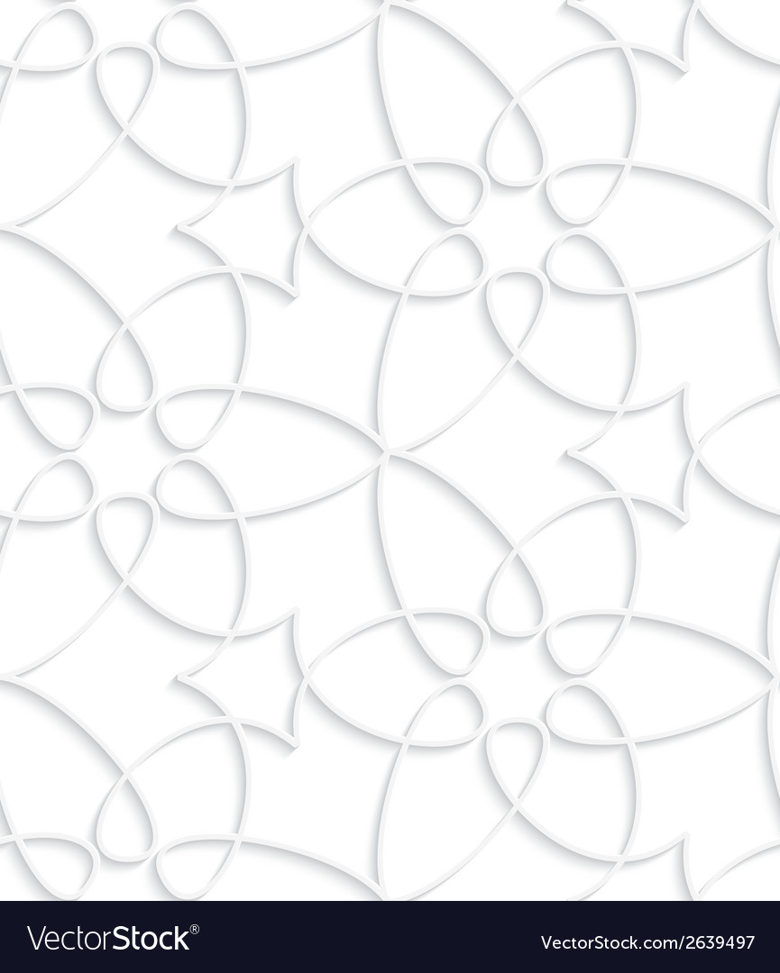 White floristic swirl seamless pattern vector | Price: 1 Credit (USD $1)