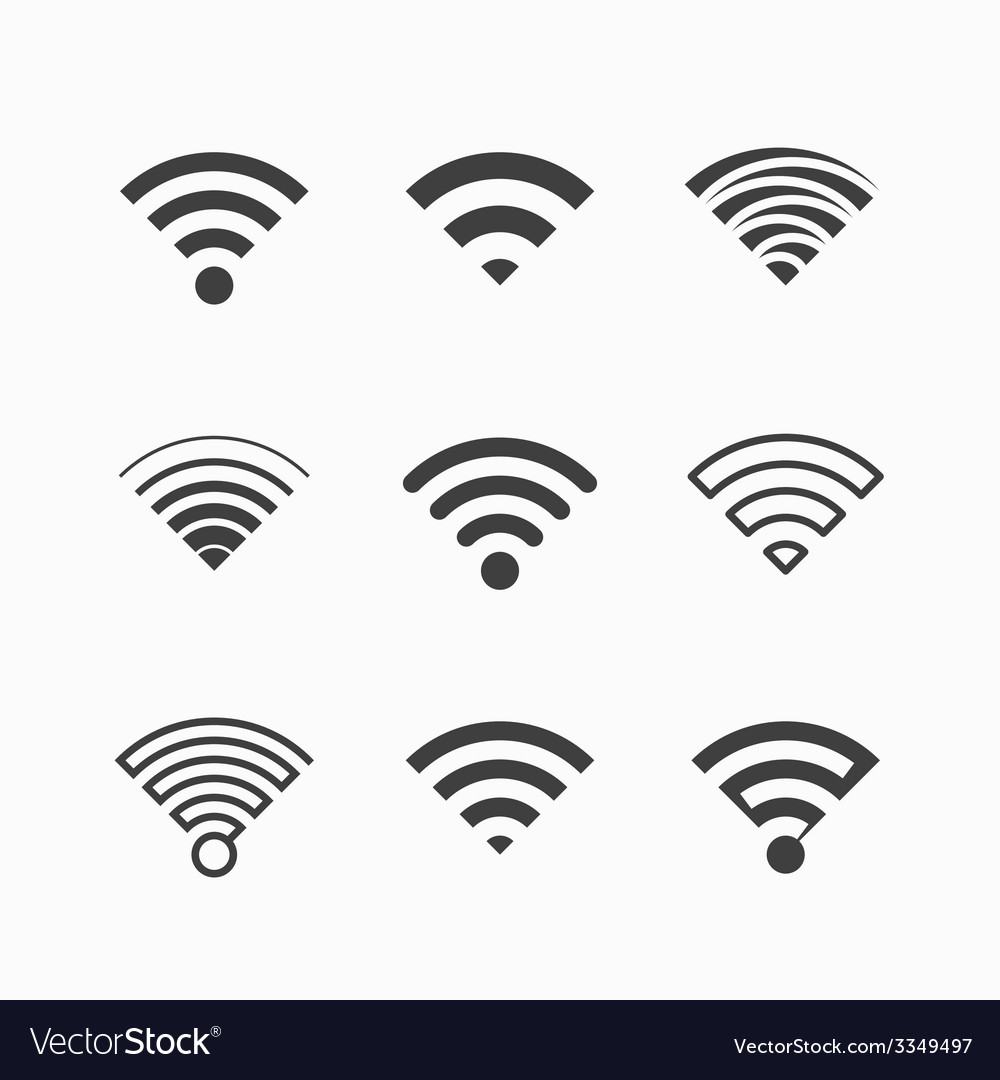 Wi-fi icons vector | Price: 1 Credit (USD $1)