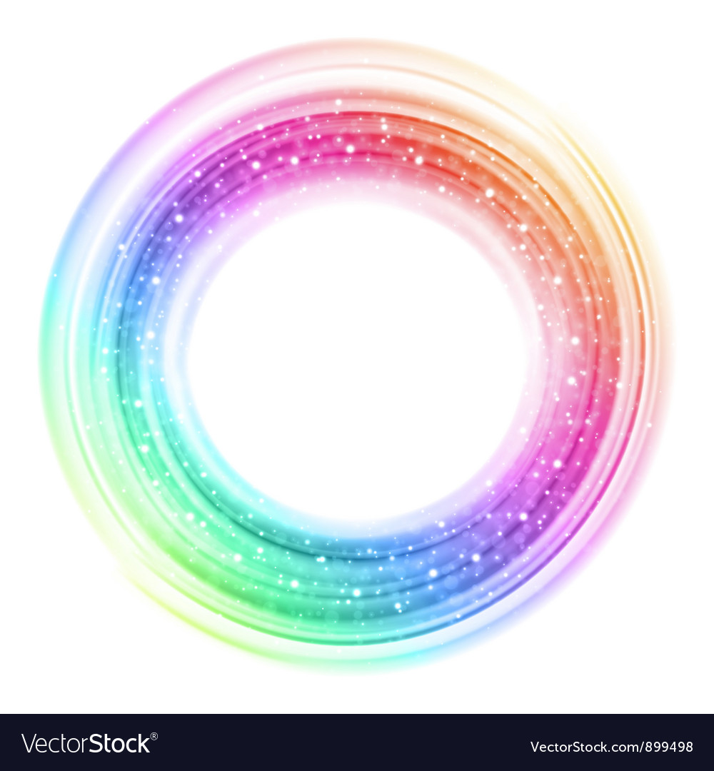 Abstract colorful smooth light circle background vector | Price: 1 Credit (USD $1)
