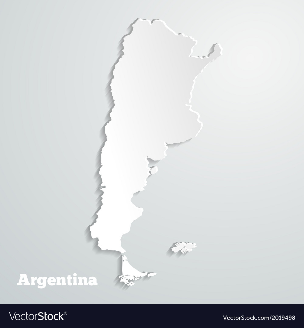 Abstract icon map of argentina vector | Price: 1 Credit (USD $1)