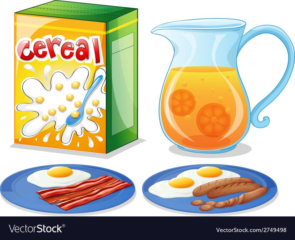 Breakfast foods vector | Price: 1 Credit (USD $1)