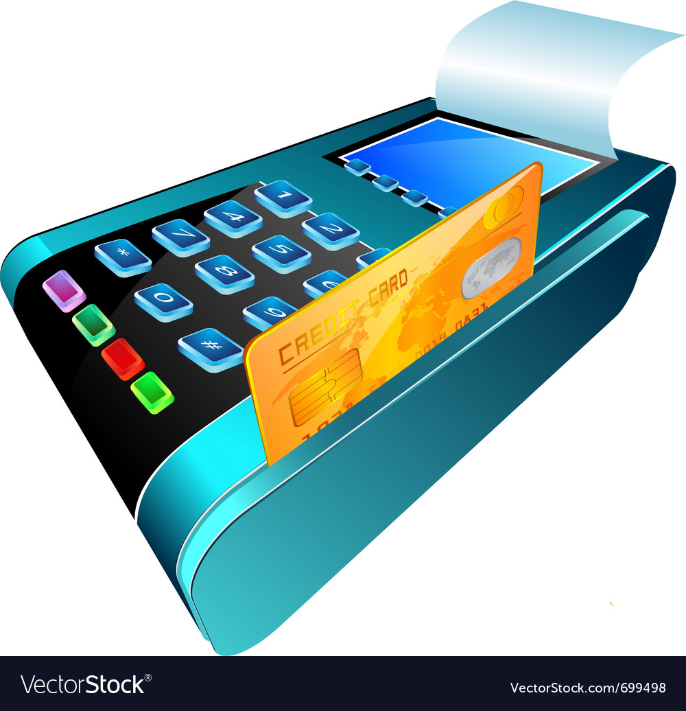 Credit card reader vector | Price: 3 Credit (USD $3)